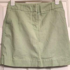 Vineyard Vines mint green corduroy skirt
